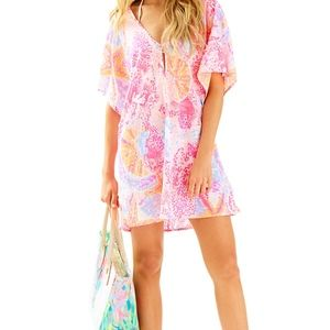 Lilly Pulitzer Paradise Pink Ballet Linen Coverup